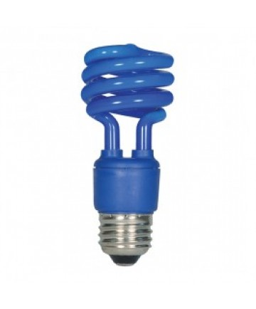 satco s7273 satco 13 watt cfl blue 120 volt t2 mini spiral. Black Bedroom Furniture Sets. Home Design Ideas
