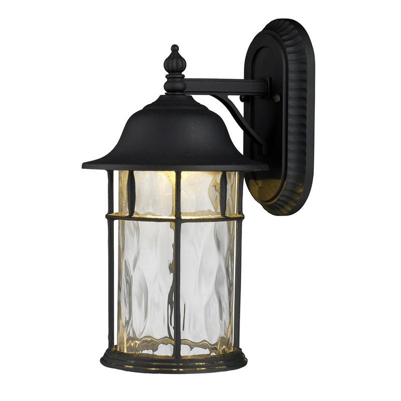 elk lighting 42261 1 lapuente 1 light outdoor title 24 compliant led wall mount in matte black