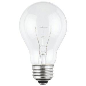 satco s6044 satco 100a19 100 watt 120 volt a19 clear e26. Black Bedroom Furniture Sets. Home Design Ideas