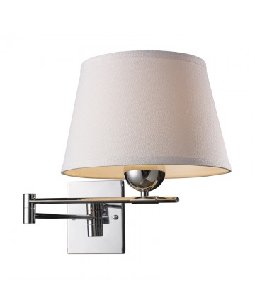 ELK Lighting 10106/1 Lanza 1 Light Swing Arm Sconce in Polished Chrome