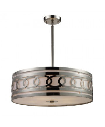 ELK Lighting 10125/5 Zarah 5 Light Pendant in Polished Nickel