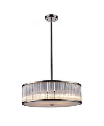 ELK Lighting 10129/5 Braxton 5 Light Pendant in Polished Nickel