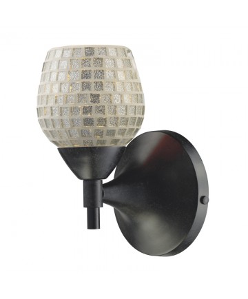 ELK Lighting 10150/1DR-SLV Celina 1 Light Sconce in Dark Rust with Silver Glass