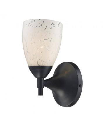 ELK Lighting 10150/1DR-SW Celina 1 Light Sconce in Dark Rust and Snow White Glass