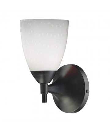 ELK Lighting 10150/1DR-WH Celina 1 Light Sconce in Dark Rust and Simple White Glass
