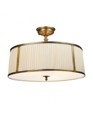 ELK Lighting 11055/4 Williamsport 3 Light Semi-flush in Vintage Brass Patina