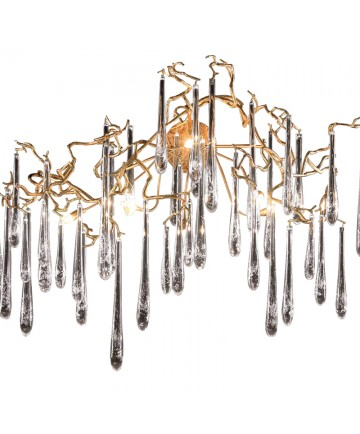 ELK Lighting 1742/6 Veubronce 6 Light Sconce in Tahla Bronze with Clear Crystal