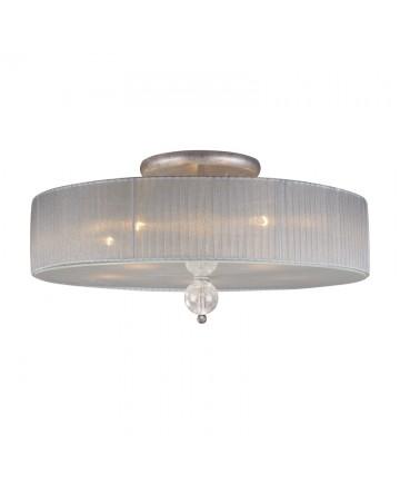 ELK Lighting 20006/5 Alexis 5 Light Semi Flush in Antique Silver