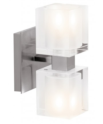 Access Lighting 23906-BS/FCL Astor Crystal Wall-Vanity Fixture