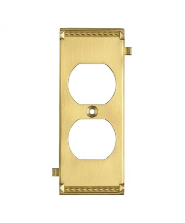 ELK Lighting 2503BR Clickplates Brass Middle Switch Plate