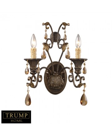 ELK Lighting 3341/2 Rochelle 2 Light Sconce with Amber Crystal