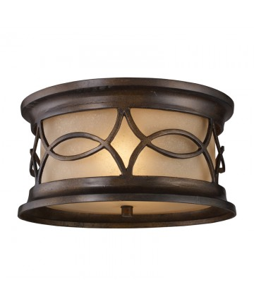 ELK Lighting 41999/2 Burlington Junction Burlington Gate 2 Light Outdoor Flush Mount in Hazelnut Bronze