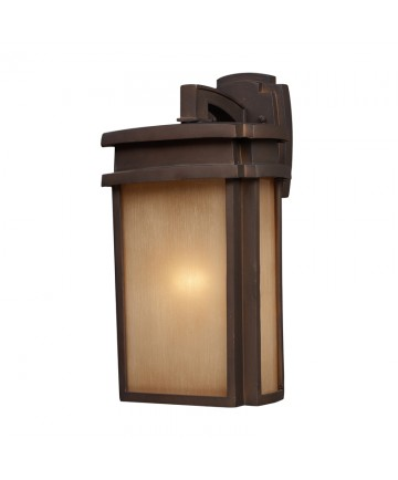 ELK Lighting 42141/1 Sedona 1 Light Outdoor Sconce in Clay Bronze