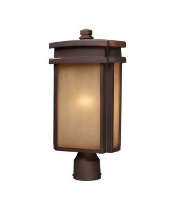 ELK Lighting 42145/1 Sedona 1 Light Outdoor Post Light N Clay Bronze