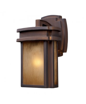 ELK Lighting 42146/1 Sedona 1 Light Outdoor Sconce in Hazelnut Bronze