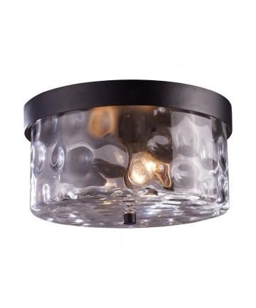 ELK Lighting 42253/2 Grand Aisle 2 Light Outdoor Flush Mount in Hazelnut Bronze