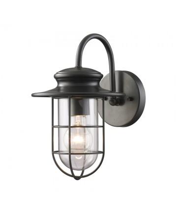 ELK Lighting 42284/1 Portside 1 Light Outdoor Sconce in Matte Black