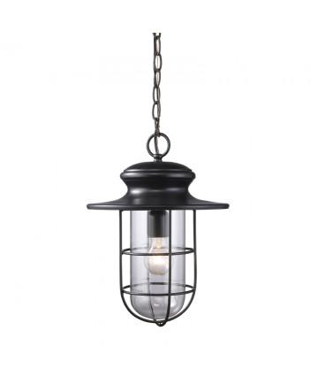 ELK Lighting 42286/1 Portside 1 Light Outdoor Pendant in Matte Black