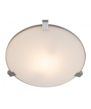 Access Lighting 50070-BS/WHT Luna Flush-Mount
