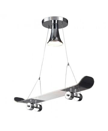 ELK Lighting 5112/1 Skateboard Novelty Lighting 1 Light Pendant in Chrome