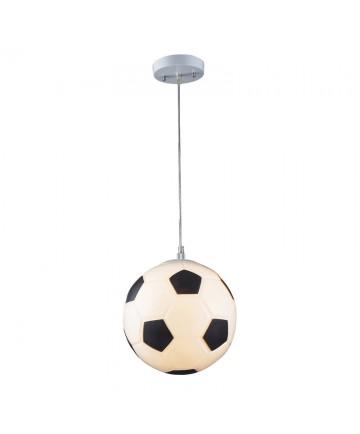 ELK Lighting 5123/1 Soccer Ball Novelty Lighting 1 Light Pendant in Silver