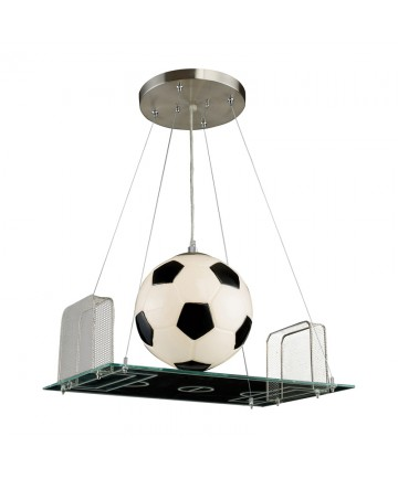 ELK Lighting 5134/1 Novelty 1 Light Pendant in a Soccer Field Motif