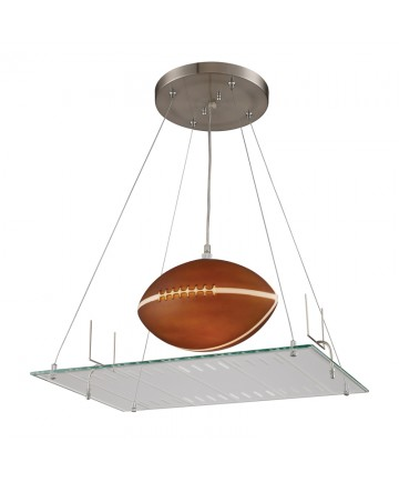 ELK Lighting 5136/1 Novelty 1 Light Pendant in a Football Field Motif