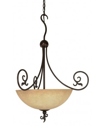 Nuvo Lighting 60/050 Tapas 3 Light 24 inch Pendant with Tuscan Suede Glass