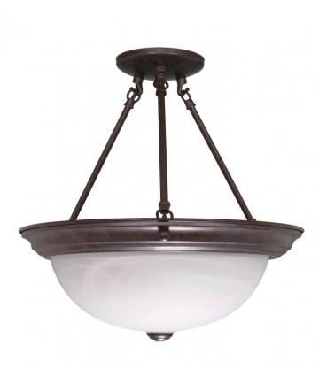Nuvo Lighting 60/210 3 Light 15 inch Semi-Flush Alabaster Glass