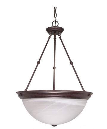 Nuvo Lighting 60/212 3 Light 20 inch Pendant Alabaster Glass