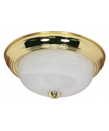 Nuvo Lighting 60/213 2 Light 11 inch Flush Mount Alabaster Glass