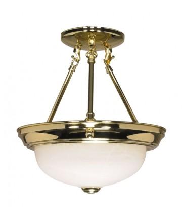 Nuvo Lighting 60/216 2 Light 11 inch Semi-Flush Alabaster Glass