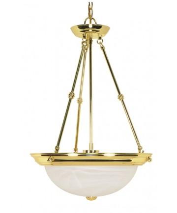 Nuvo Lighting 60/219 3 Light 15 inch Pendant Alabaster Glass