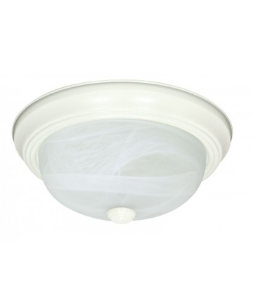 Nuvo Lighting 60/221 2 Light 11 inch Flush Mount Alabaster Glass