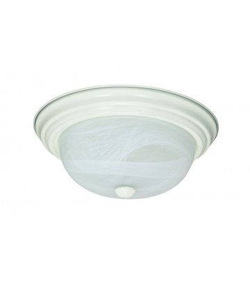 Nuvo Lighting 60/222 2 Light 13 inch Flush Mount Alabaster Glass