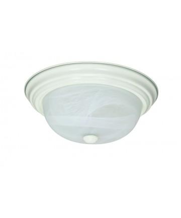Nuvo Lighting 60/222 2 Light 13 inch Flush Mount Alabaster Glass
