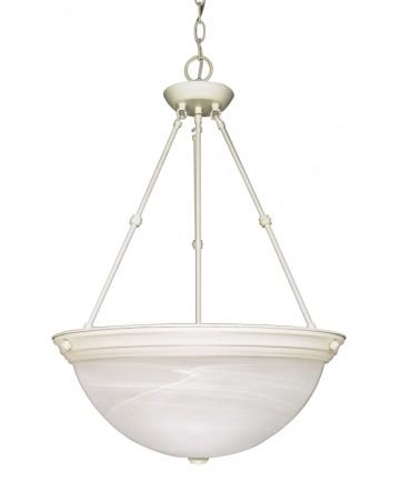 Nuvo Lighting 60/228 3 Light 20 inch Pendant Alabaster Glass