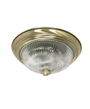Nuvo Lighting 60/230 2 Light 13 inch Flush Mount Clear Swirl Glass