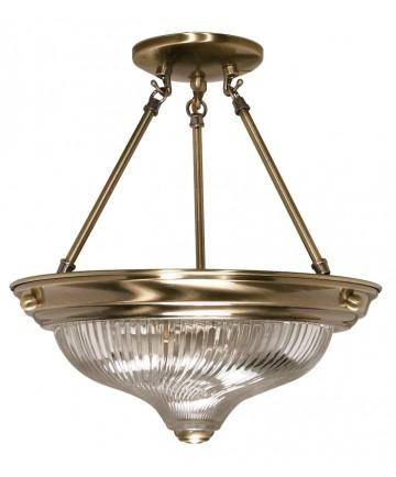 Nuvo Lighting 60/233 2 Light 13 inch Semi-Flush Clear Swirl Glass