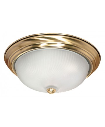 Nuvo Lighting 60/239 3 Light 15 inch Flush Mount Frosted Swirl Glass