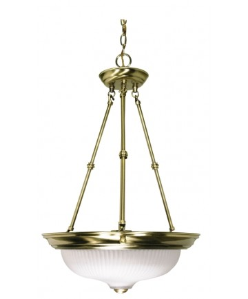 Nuvo Lighting 60/243 3 Light 15 inch Pendant Frosted Swirl Glass