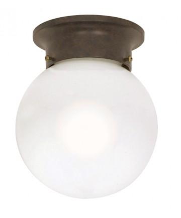 Nuvo Lighting 60/247 1 Light 6 inch Ceiling Mount White Ball