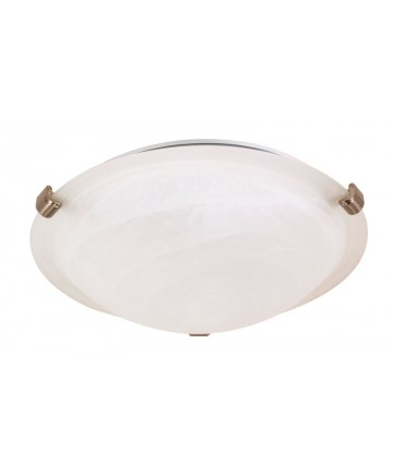 Nuvo Lighting 60/270 1 Light 12 inch Flush Mount Tri-Clip with Alabaster Glass