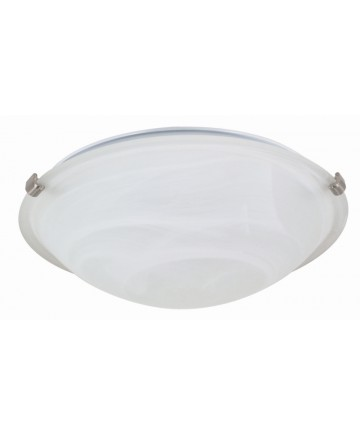 Nuvo Lighting 60/271 2 Light 16 inch Flush Mount Tri-Clip with Alabaster Glass