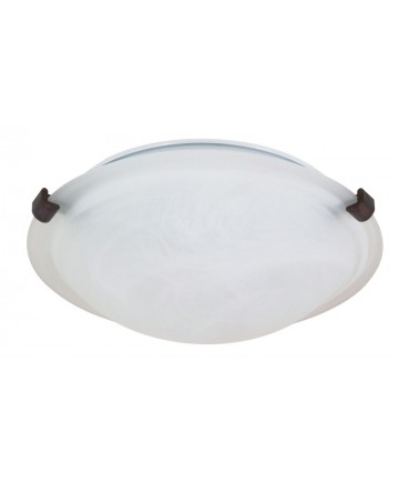 Nuvo Lighting 60/272 1 Light 12 inch Flush Mount Tri-Clip with Alabaster Glass