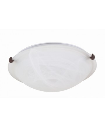 Nuvo Lighting 60/273 2 Light 16 inch Flush Mount Tri-Clip with Alabaster Glass