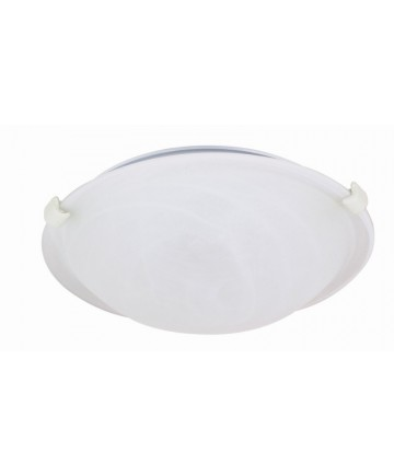 Nuvo Lighting 60/276 1 Light 12 inch Flush Mount Tri-Clip with Alabaster Glass