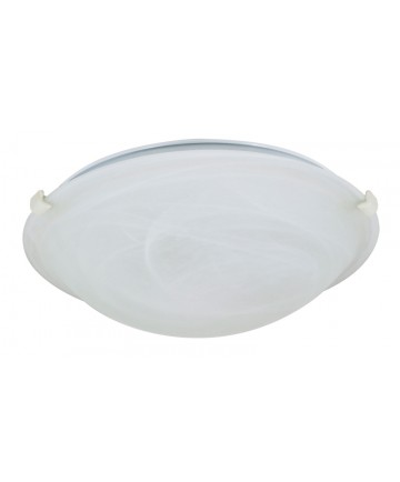 Nuvo Lighting 60/277 2 Light 16 inch Flush Mount Tri-Clip with Alabaster Glass