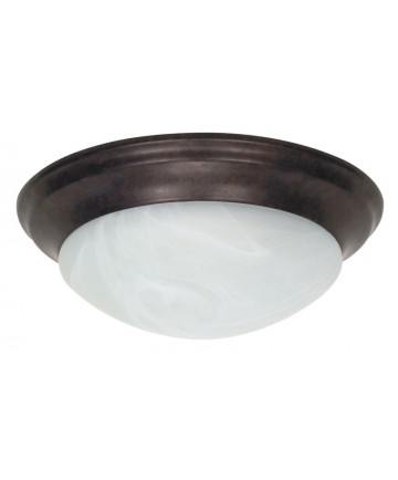 Nuvo Lighting 60/281 2 Light 14 inch Flush Mount Twist & Lock with Alabaster Glass