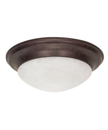 Nuvo Lighting 60/282 3 Light 17 inch Flush Mount Twist & Lock with Alabaster Glass